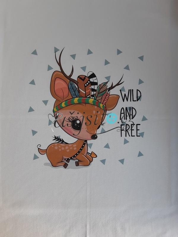 Panel -  Srnka wild and free 55x70cm
